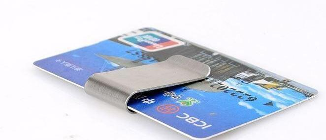 Stainless Steel Brass Money Clipper Slim Money Wallet Clip Clamp Card Holder Credit Name Card Holder