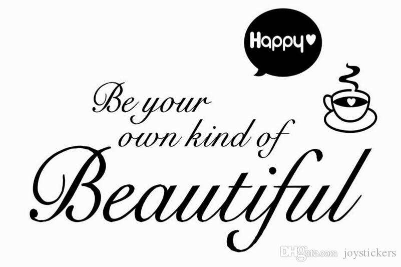 be your own kind beautiful living room wall stickers home decorations gift diy removable vinly wall decals bedroom