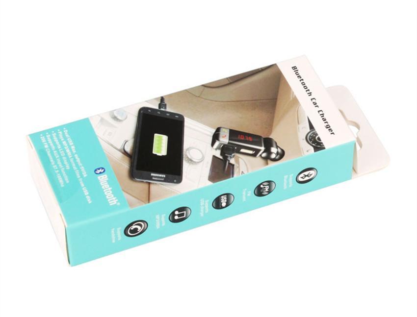 Descuento BC06 Car Kit Reproductor de MP3 Manos libres inalámbrico Bluetooth FM Transmisor Modulador USB SD MMC Aux LCD BT Cargador de coche para iPhone