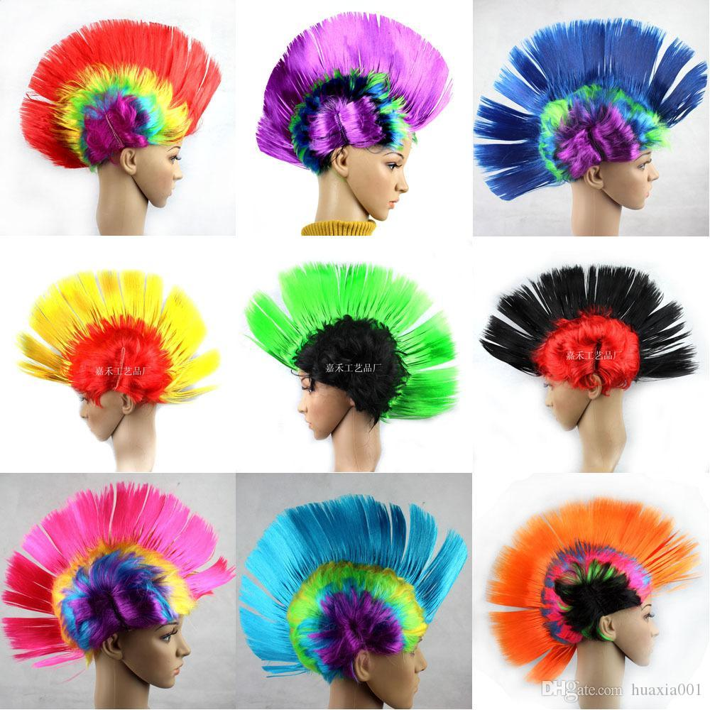 Online Cheap New Party Wigs Mohawk Punk Cockscomb Fancy Dress ...