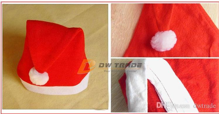 DHL 크리스마스 산타 클로스 모자 CAP 크리스마스 모자 부직포 모자 산타 모자 축제 파티 모자 크리스마스는 J110407 번호를 제공합니다