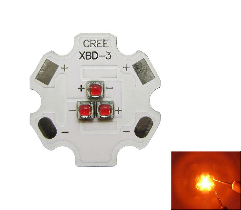 Cree XB-D XBD 9W 3 Leds Blue Green Red Yellow Warm White Mixcolor 350-700MA Led Light DIY