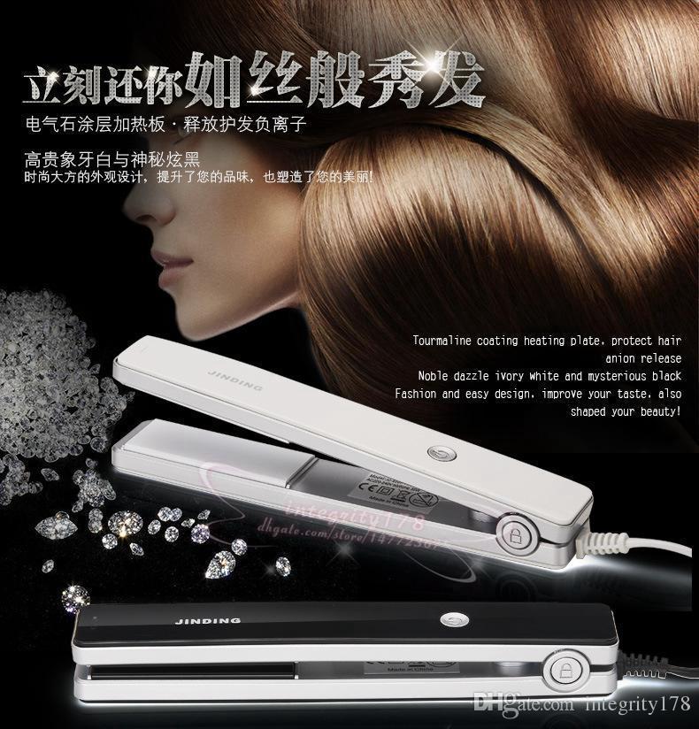 2016 جديد وصول تشنج الشعر استقامة ac110-240 فولت 50/60 هرتز قوة 35W الأسود والأبيض اللون استقامة الحديد 20 قطعة / الوحدة dhl مجانا