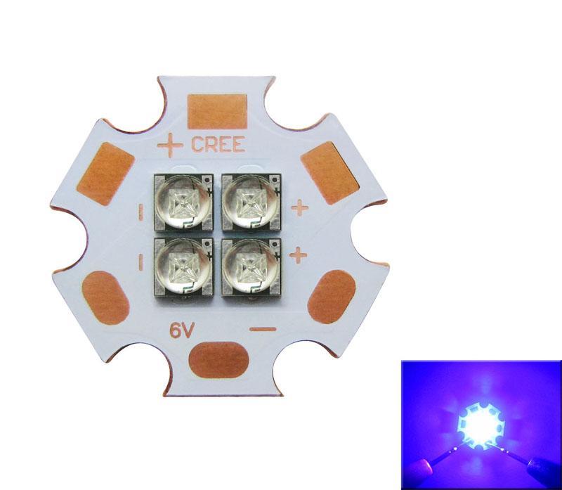 Cree XT-E 4 Led Chips Warm White / White / Royal Blue Led Light 6V / 12V 110 Degree