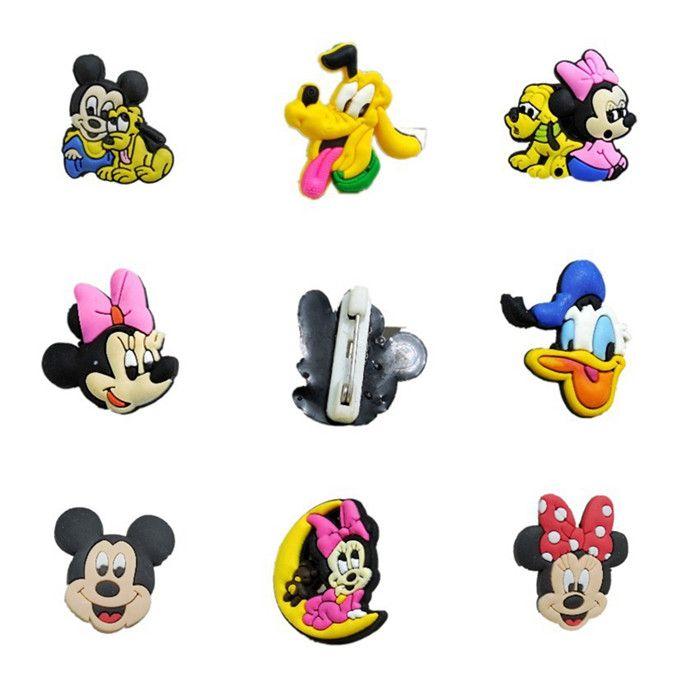 2017 New Mickey Mouse Minnie Donald Duck Brooch Badge Cartoon