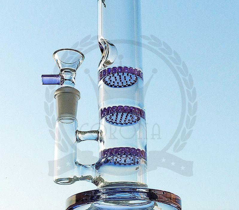 corona purple blue yellow green beaker bongs glass bong 36cm silicone water pipes oil rig 14.4mm bongs pipe bubbler straight
