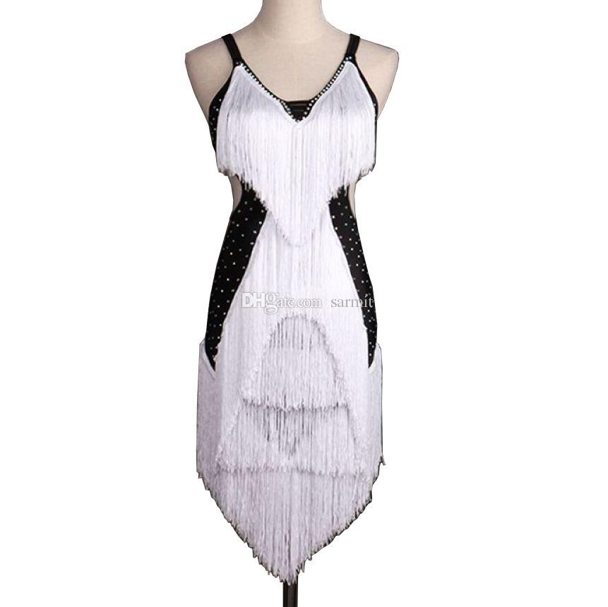 CAD283- NEW Women Latin Dance Dress Rhinestones Tassels Samba Dance ...