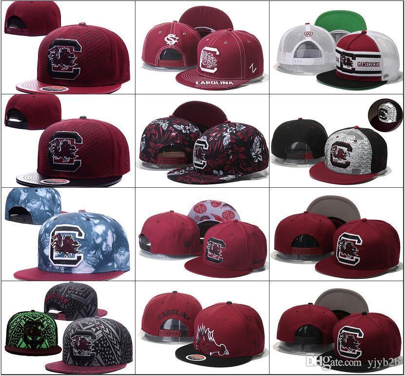 best sneakers 6fb0f adf43 2018 New South Carolina Gamecock NCAA Snapback Hats Brand USA College  Cartoon Logo Adjustable Caps Fashion Hip Hop Chapeaus