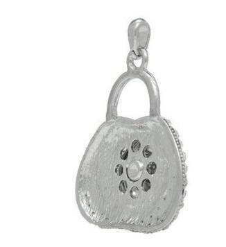 Noosa rodyum kaplama rhinestone Kolye sıralama şekli kilit DIY kişiselleştirilmiş düğme kolye moda takı aksesuarları fit 18mm