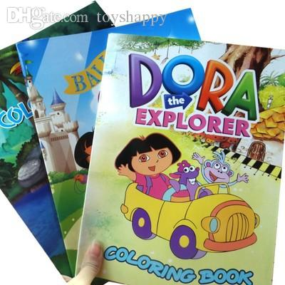 2018 Wholesale Dora The Explorer Coloring Book ChildrenS Painting Books Baby Toy Educational Filled Color From Toyshappy 5546
