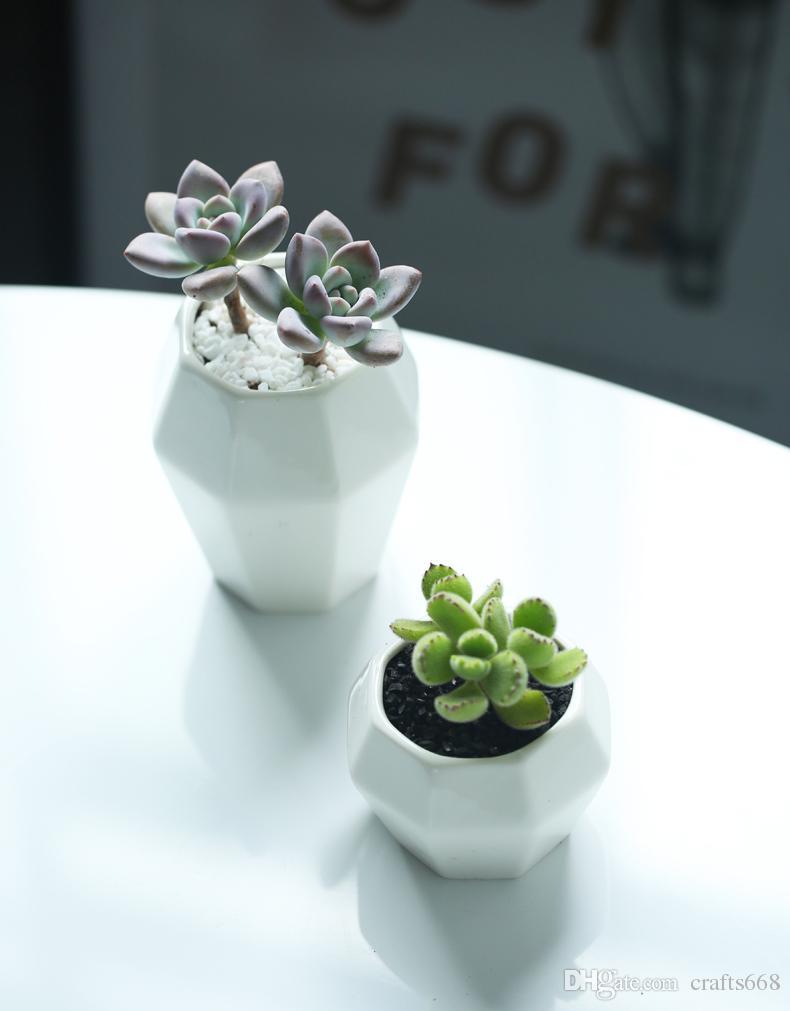 Современный бар ресторан цветочные горшки для зеленых растений белые керамические цветочные горшки плантаторы украшения дома простой рабочий стол цветочные вазы декор