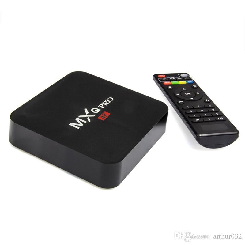 MXQ Pro Android TV Box 9 Amlogic S905W Quad Core HD 4K inteligente Mini PC 1G 8G Wifi H.265 inteligente Media Player