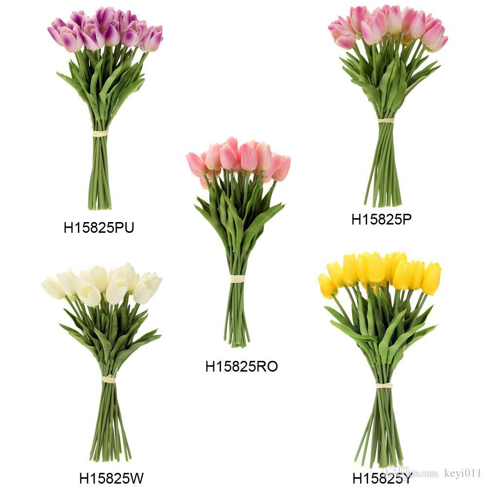 Newest pu material artificial tulip flowers single long stem bouquet newest pu material artificial tulip flowers single long stem bouquet beautiful simulation flower party wedding decoration flower ball decoration flower izmirmasajfo
