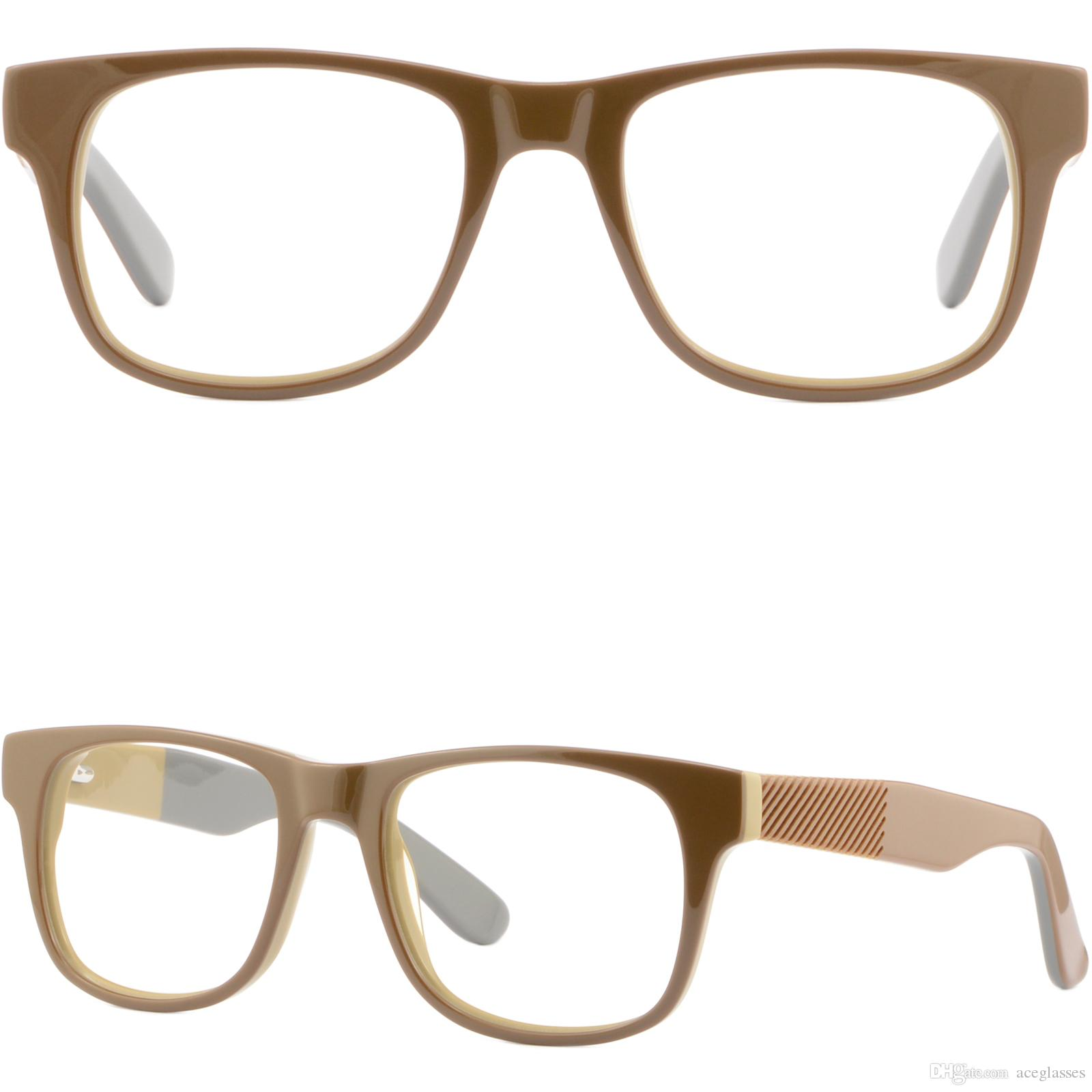 af0abb08483 Full Rim Mens Womens Thick Acetate Plastic Frame Spring Hinges Eye Glasses  Brown Glasses Frame Online with  35.87 Piece on Aceglasses s Store