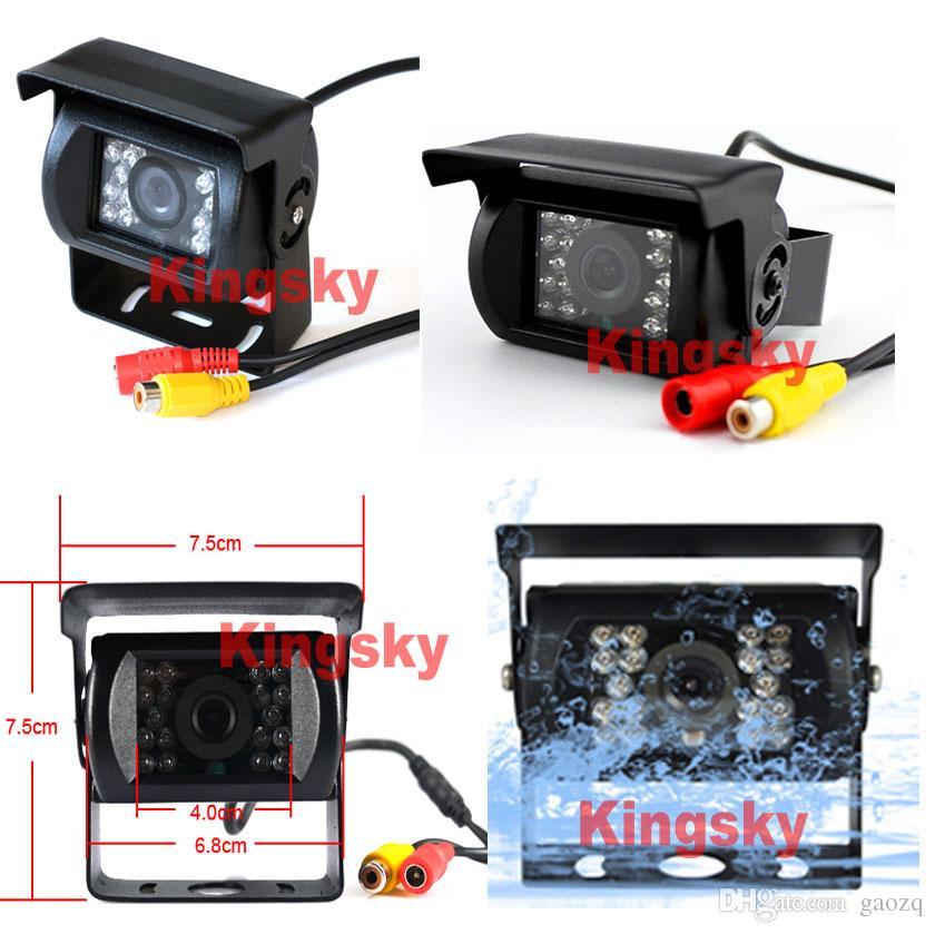 방수 18 IR LED 야간 투시경 자동 역전 카메라 + 롱 트럭 버스 용 7 인치 카 모니터 미러 카 리어 뷰 키트 무료 10m 케이블
