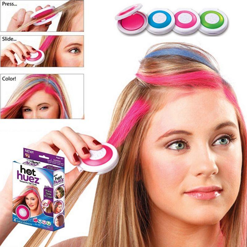 Hot European Temporary Hair Chalk Powder Type Hair Color Temporary ...