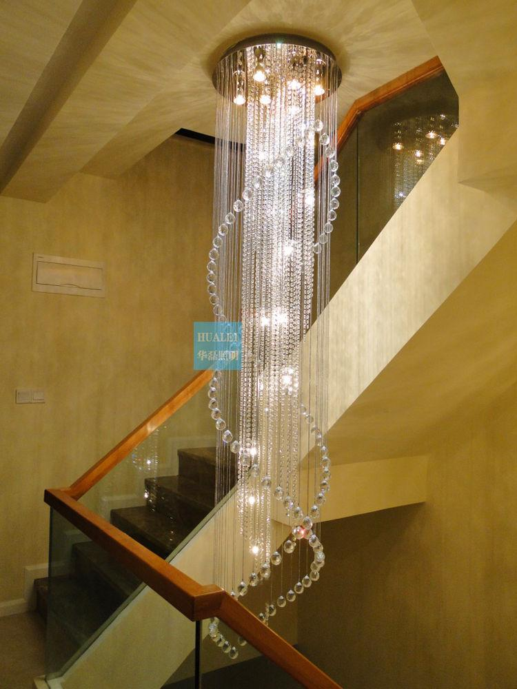 10 Best Of Modern Stairwell Pendant Lighting: Hot Sales Modern Staircase Chandelier Crystal Lighting