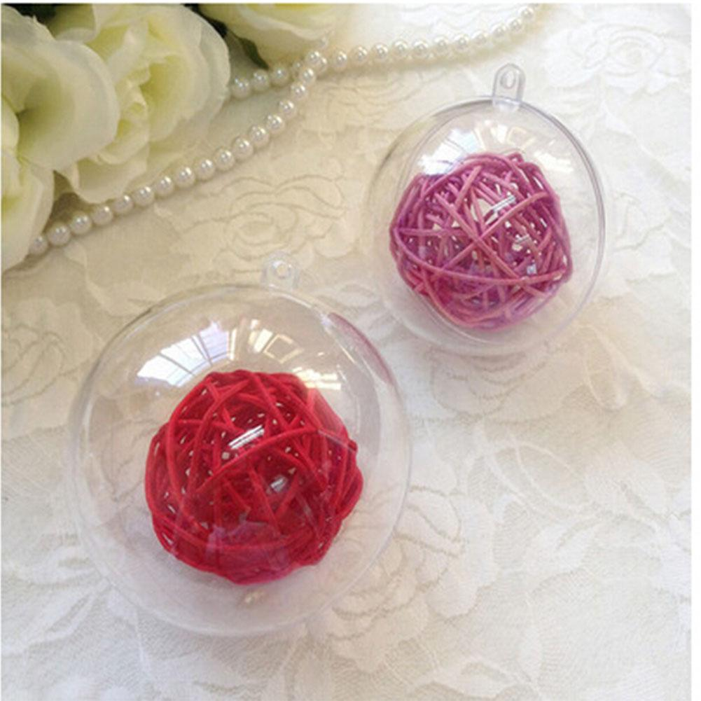10cm Plastic Christmas Decorations Hanging Ball Bauble Candy Ornament Xmas Tree Outdoor Decor Clear Plastic Christmas Baubles