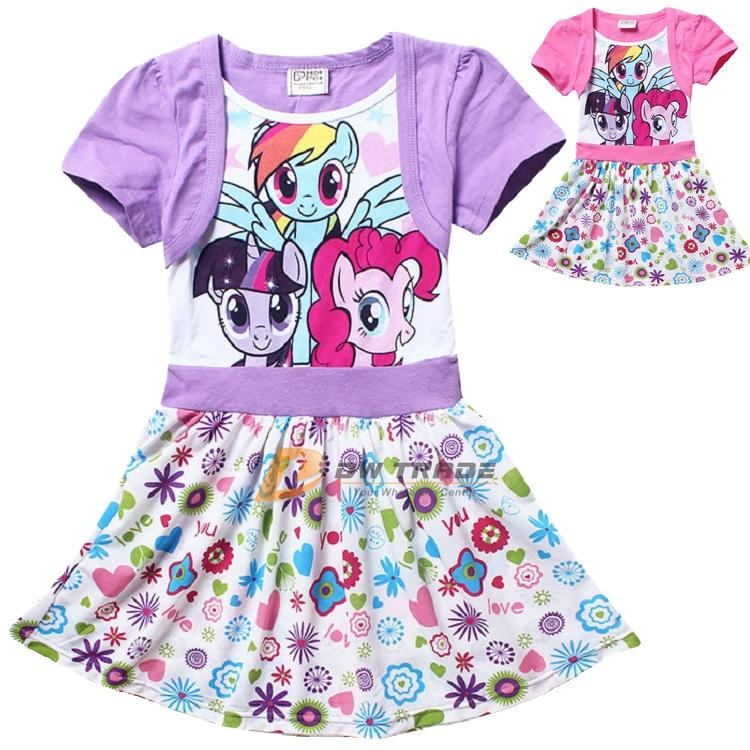 f0c0e263c8fc 2015 Spring Girls My Little Pony Dress Children Kids Pure Cotton ...