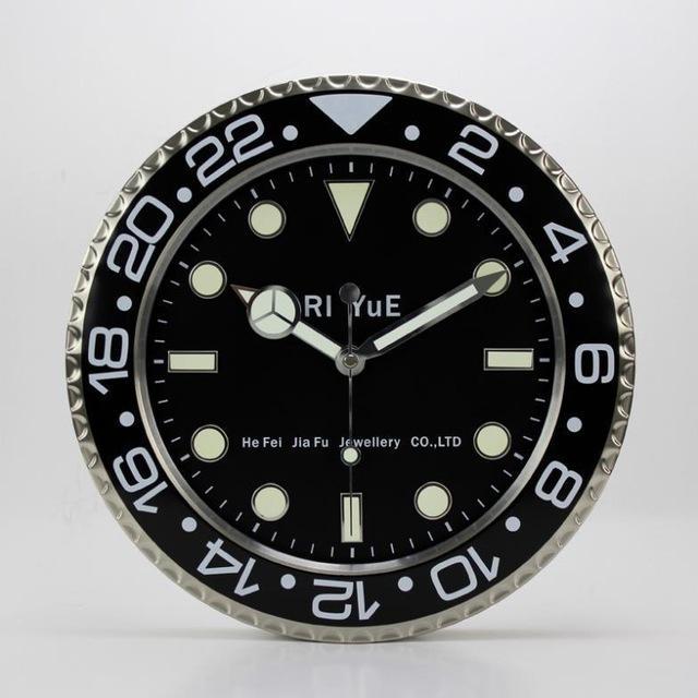 M Kaka 14 Inch Wall Clock High Quality Stereo Mute Luminous Dial