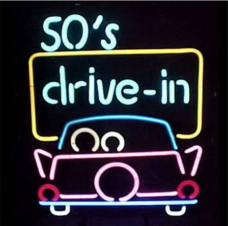 "SO'S DRIVE-IN CAR Taxi Company Real Glass Tube Neon Sign Display Bar Pub Club Fast Food Take Away Meals Neon Signs 15""X19"""