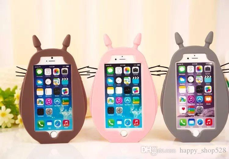 Cell phone case 3D Silicone Case Cartoon Chinchilla Phone Case for iPhone 5 5S 6 4.7 Plus 5.5 dhl shipping