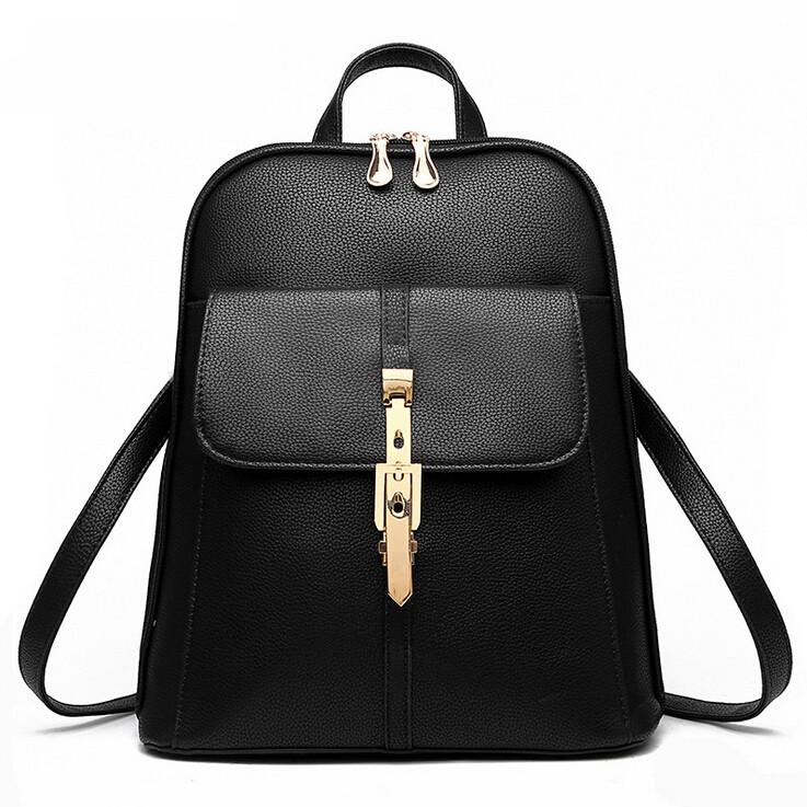 2015 Fashion Women Designer Backpack PU Leather Shoulder Bag Lady Handbag  Tote Purse Leisure Double Backpack Style School Backpack Designer Backpack  PU ... 92a91befe67b8