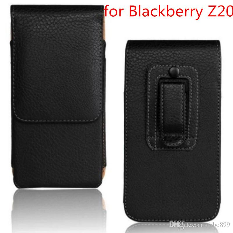 Wholeale Fashion PU Leather Case Belt Clip Cover Mobile Phone Pouch Case  For BlackBerry Z20 High Quality Free