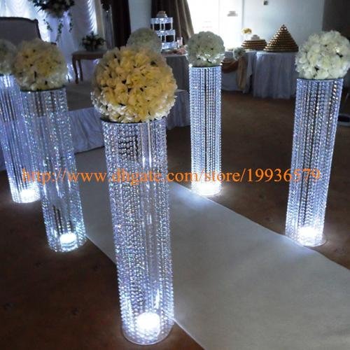 3fttall acrylic wedding decoration crystal walkway pillars pedestals 8 pcs lot 3fttall acrylic wedding decorationg junglespirit Choice Image