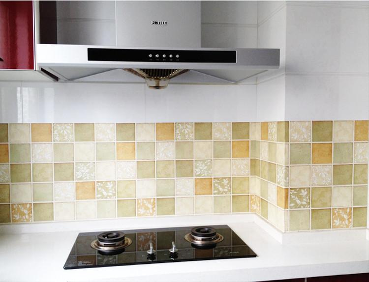 Paper Wall Tiles self adhesive kitchen oilproof of wall paper waterproof removable