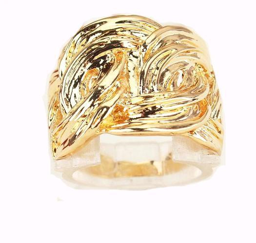 18k oro plateado cumpleaños / anillo de regalo de San Valentín joyería para mujeres / hombres joyería de moda venta caliente regalos de fiesta