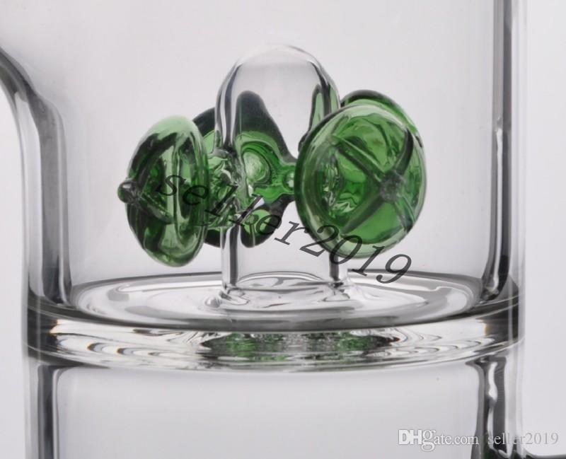 High Quality glass bongs Glass water pipes with sprinkle perc and round liner perc and gear perc With Ash Catcher