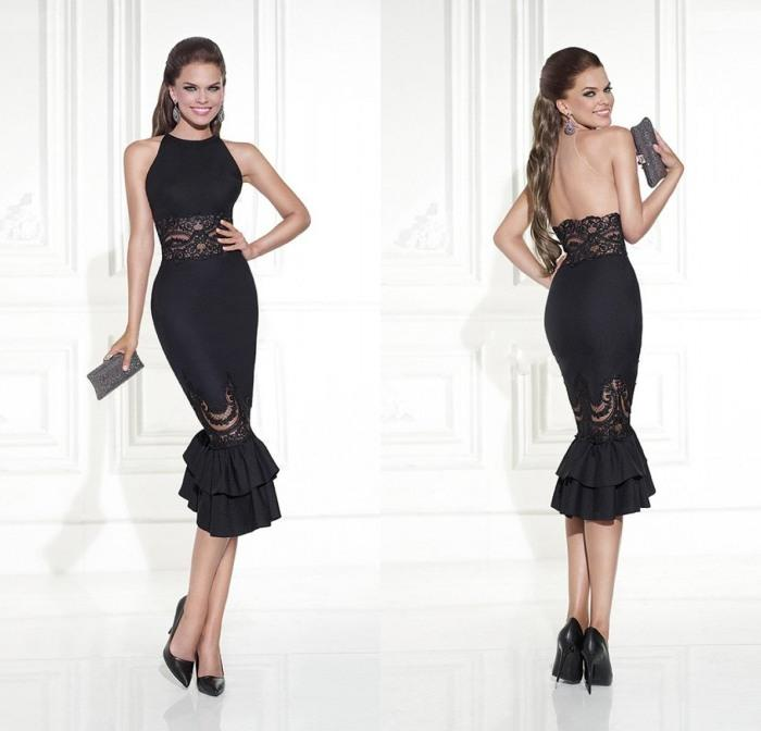 Elegant Tank Style Knee Length Mermaid Cocktail Dresses With