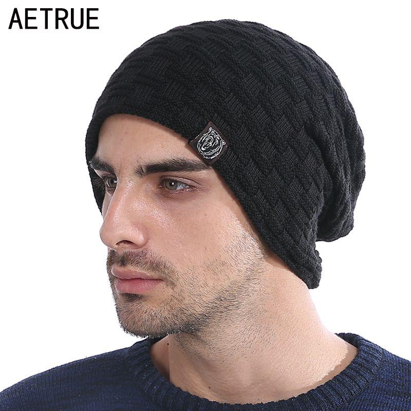 6640ee14524 New Winter Hat Men Knitted Beanies Warm Bonnet Caps Baggy Brand Solid  Thicken Fur Winter Hats For Men Women Wool Skullies Beanie Beanie Hoodies  From Crazyxb ...