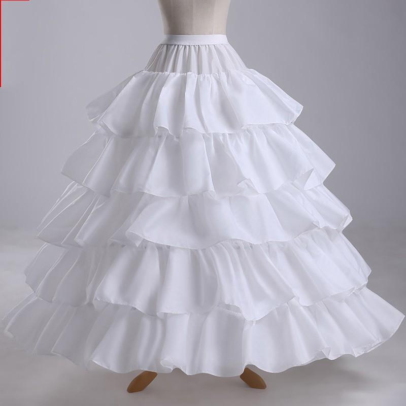 compre blanco 5 capas de una línea nupcial enagua para el vestido de