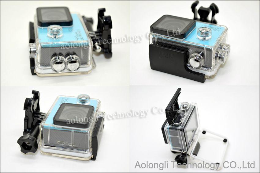 HD 4 K 24fps kamera SJ8000 WiFi Spor eylem kamera Novatek NT96660 16MP 2.0LCD su geçirmez Eylem kask Kameralar 1080 P / 60fps Video araba DVR