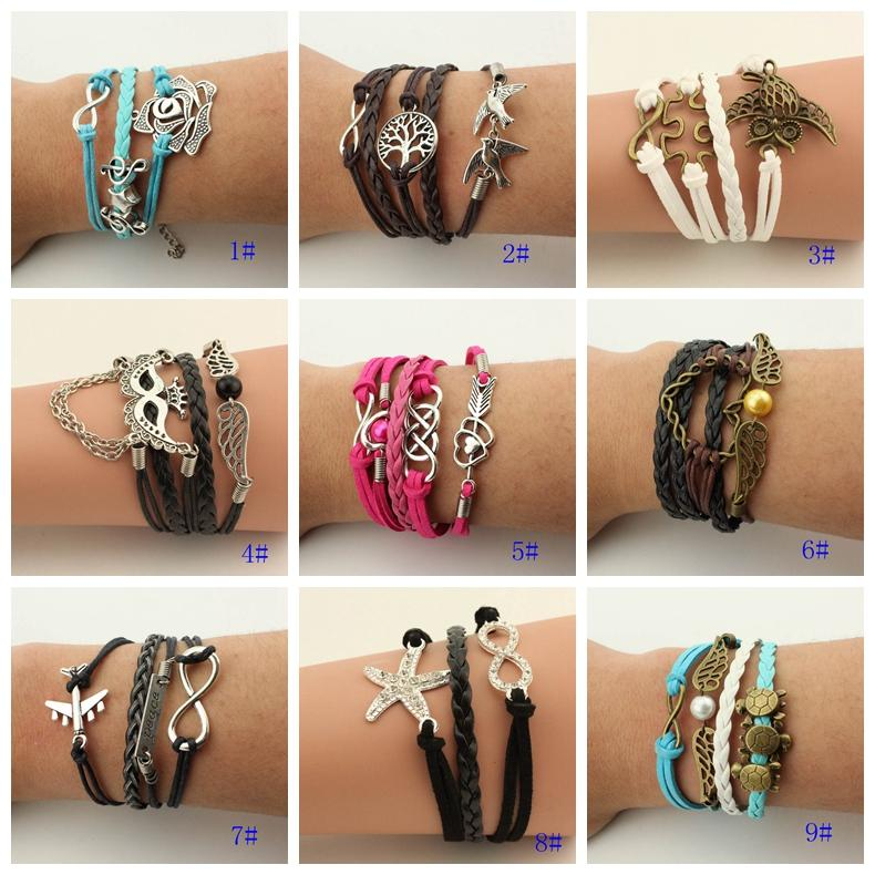 2015 New Styles Infinity Girls Bracelets Friendship Hand ...