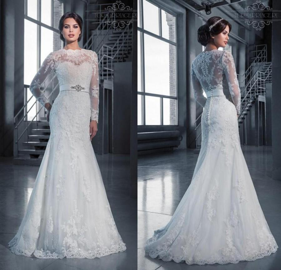2016 Sexy Beach Wedding Dress Fitted Lace Wedding Dresses Long Sleeves Sash  Appliques Vintage Bridal Gowns Strapless Sheath Wedding Dress V Neck Sheath   2016 Sexy Beach Wedding Dress Fitted Lace Wedding Dresses Long  . Long Sleeve Backless Wedding Dresses. Home Design Ideas
