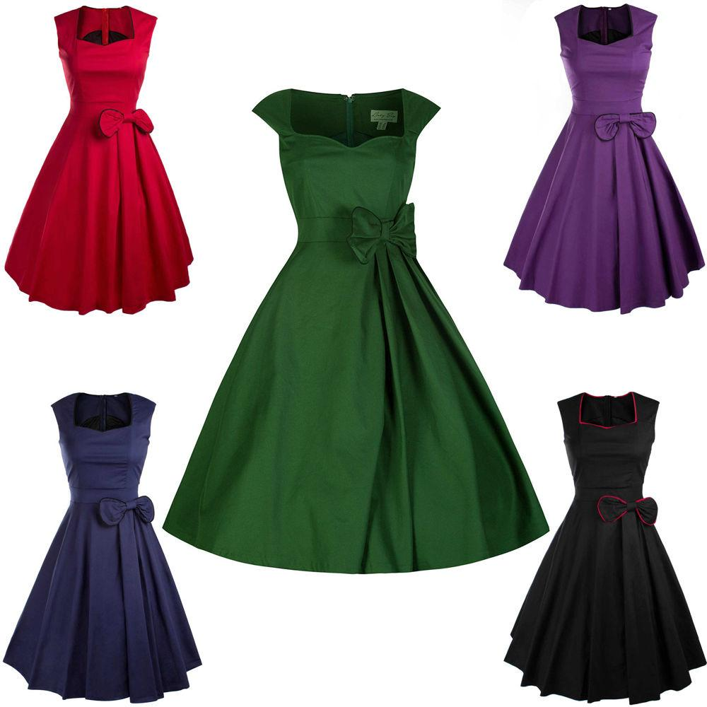 2018 New Fashion Women\'S 50s 60s Hepburn Style Party Wedding ...