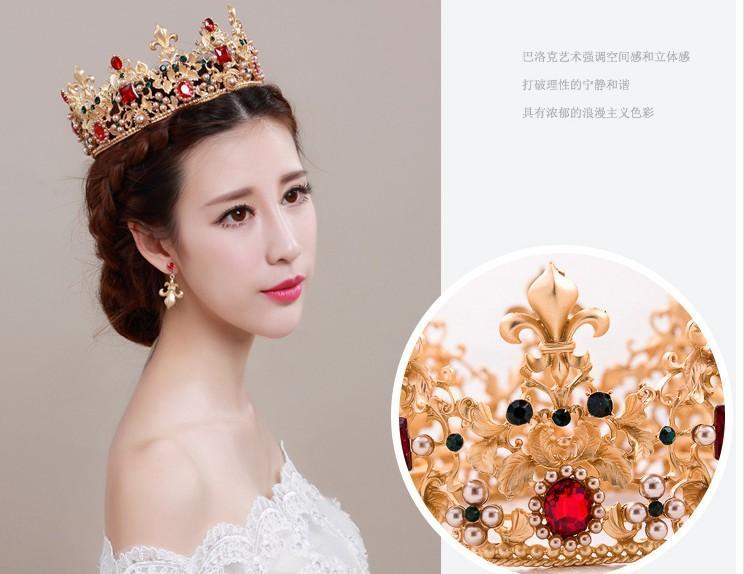 2016 hit Noiva crecy yao grande restaurar antigas formas anel e a noiva se casou coroa coroa barroca a rainha acessórios para o cabelo