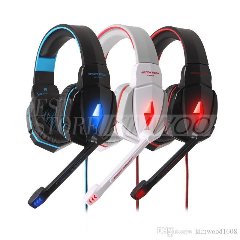 CADA G4000 Pro Headphones Stereo Headset Gaming Headset Anti-Ruído Fones De Ouvido com Controle de Volume Mic Headband para Jogos de PC 002994