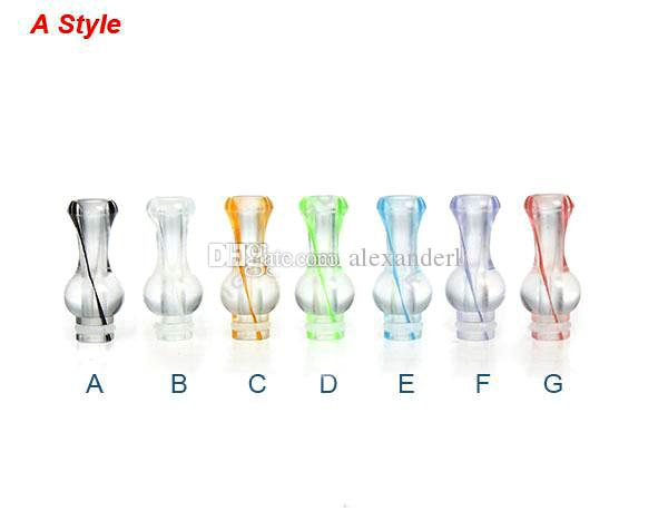 Rich Colors 510 Plastic Drip Tip King Kong Gourd Ribbon Drip Tips 510 Mouthpieces for EGO CE4 CE5 DCT EE2 Mods E Cig Tanks E Cigarettes