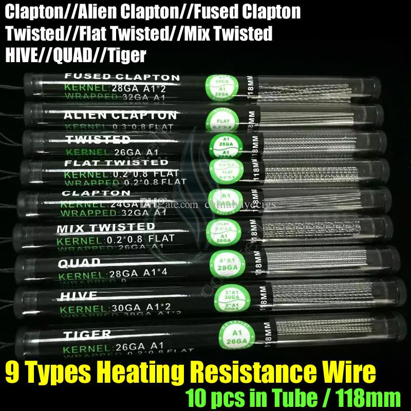 Top Heating Resistance Wires Alien Fused Clapton Flat Mix Twisted ...