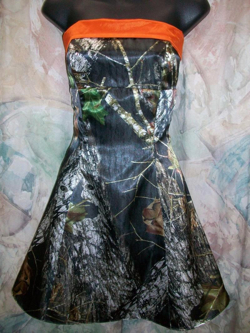 Camouflage Camo Wedding Bridesmaid Dresses Strapless Prom Dresses 2015 Knee Length Short Dresses Formal Homecoming Gowns