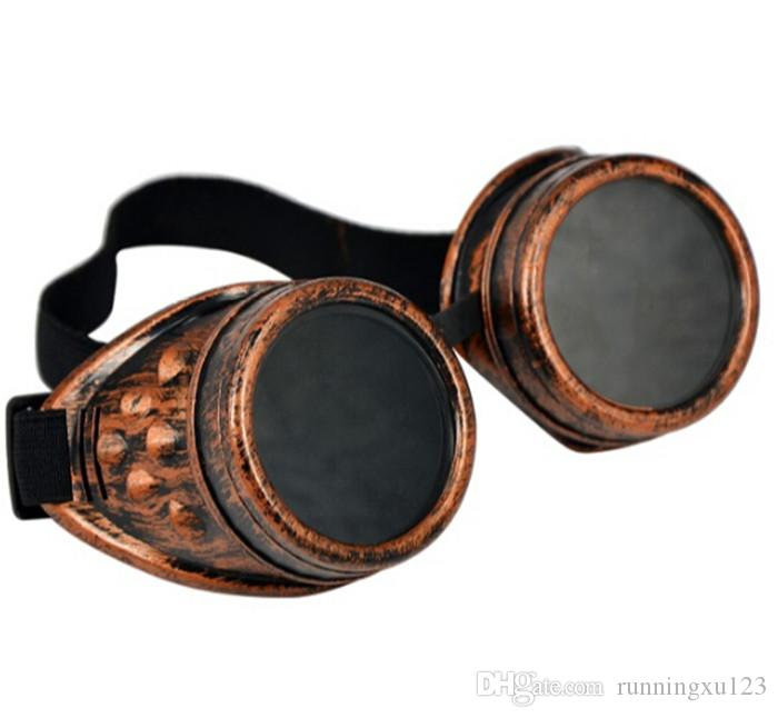 hot sale Vintage Punk Gothic Sunglasses Steampunk Goggles Glasses Welding Cyber Travelling Retro for man women D404