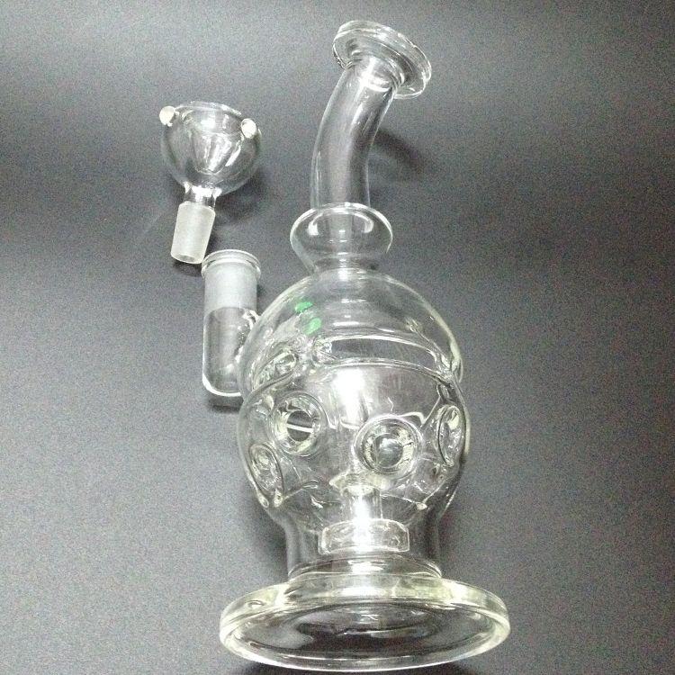 2015 neue Glas Faberge Glas Faberge Egg Wasserpfeifen Glas Bongs mit Birdcage Perc 14,5 mm