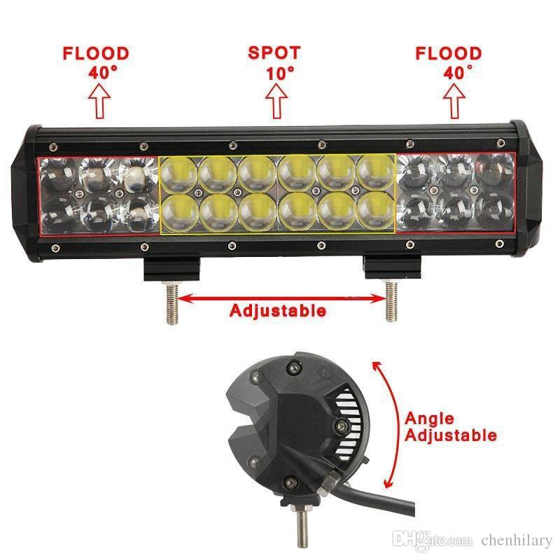 12 pollici LED Light Bar OSRAM 120 W Barras LED 12V 24 V Off road 4X4 Camion SUV ATV Spot auto Flood Combo Barre led 120W Driving Lamp