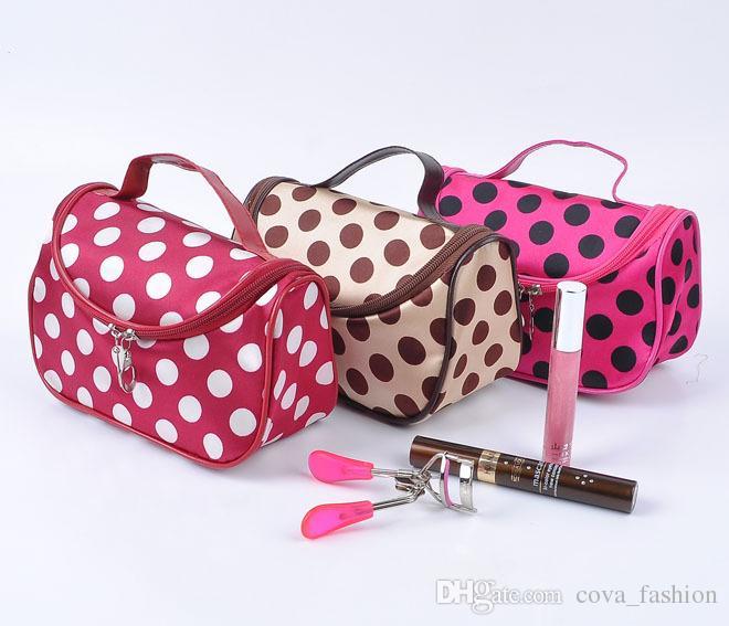 Descuento de la venta caliente es cremallera barata del embrague del maquillaje del recorrido del bolso cosmético de las mujeres DHL envío libre venta al por mayor