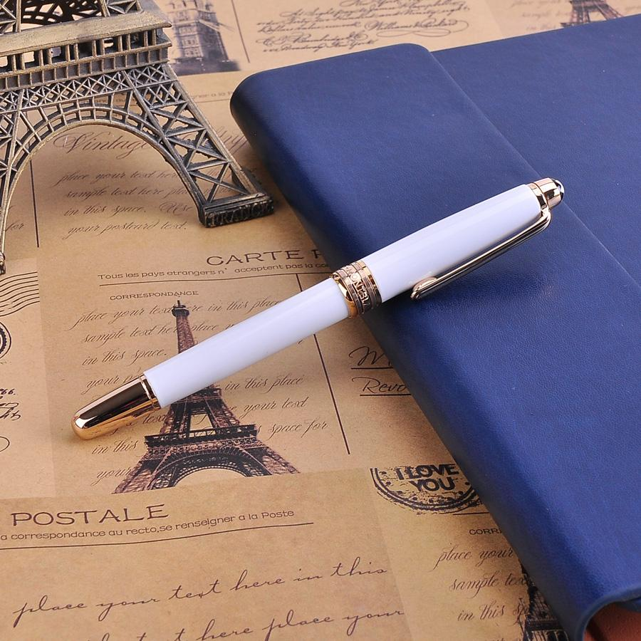 High-end Engraved Design Silver Rollerball Pen Black Ink MB Sign Pens The Best Business Office Chritmas Gift for Friends