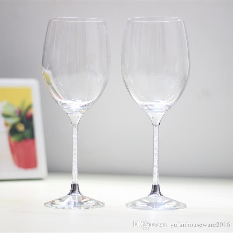 lead free crystal toasting glasses set stemware wedding wine goblet home and bar use drinking glass cup